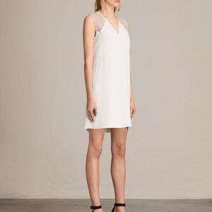 NWT All Saints Prism Dress Oyster White Size 10